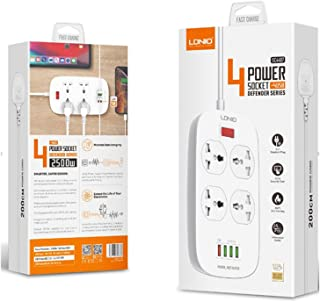 LDNIO 4 Power Socket Extension 4 USB (18w) Defender Series