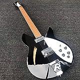 MLKJSYBA Guitarra 6 Cuerdas Eléctricas Guitarra Eléctrica Guitarra De Pintura Negra, Diapasón Adornado Guitarras acústicas (Color : Guitar, Size : 41 Inches)