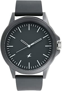 Fastrack Tees Analog Black Dial Unisex-Adult Watch-38024PP25
