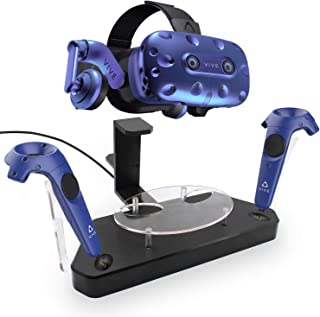 AMVR Dual Charger Contact Charging Station/Stand,Support Firmware Upgrade for HTC VIVE or Pro Headset and Controller