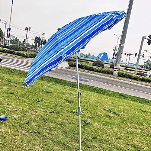 Parasol 210cm Sombrilla de Playa Redonda protección Solar para Exteriores Sombrilla de Jardín Asilo, UPF50 + / Protección UV, Inclinación - Impermeable