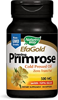 Nature's Way EfaGold Evening Primrose Cold Pressed Oil 500 mg with 10% GLA, 100 Count