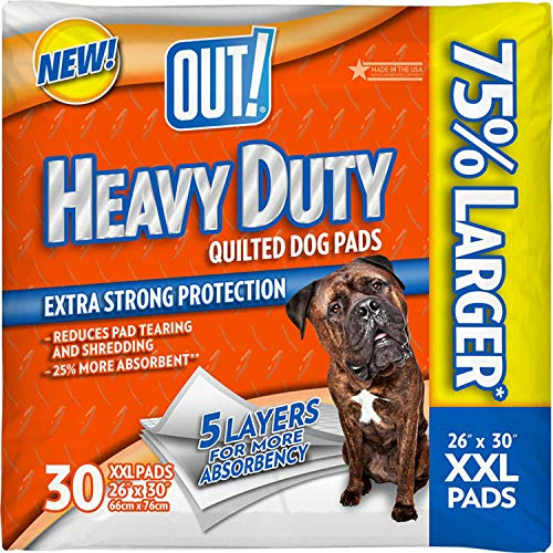 OUT! Heavy Duty XXL Dog and Puppy Pads, 26 by 30 inches, 30 Pads (120 ct)