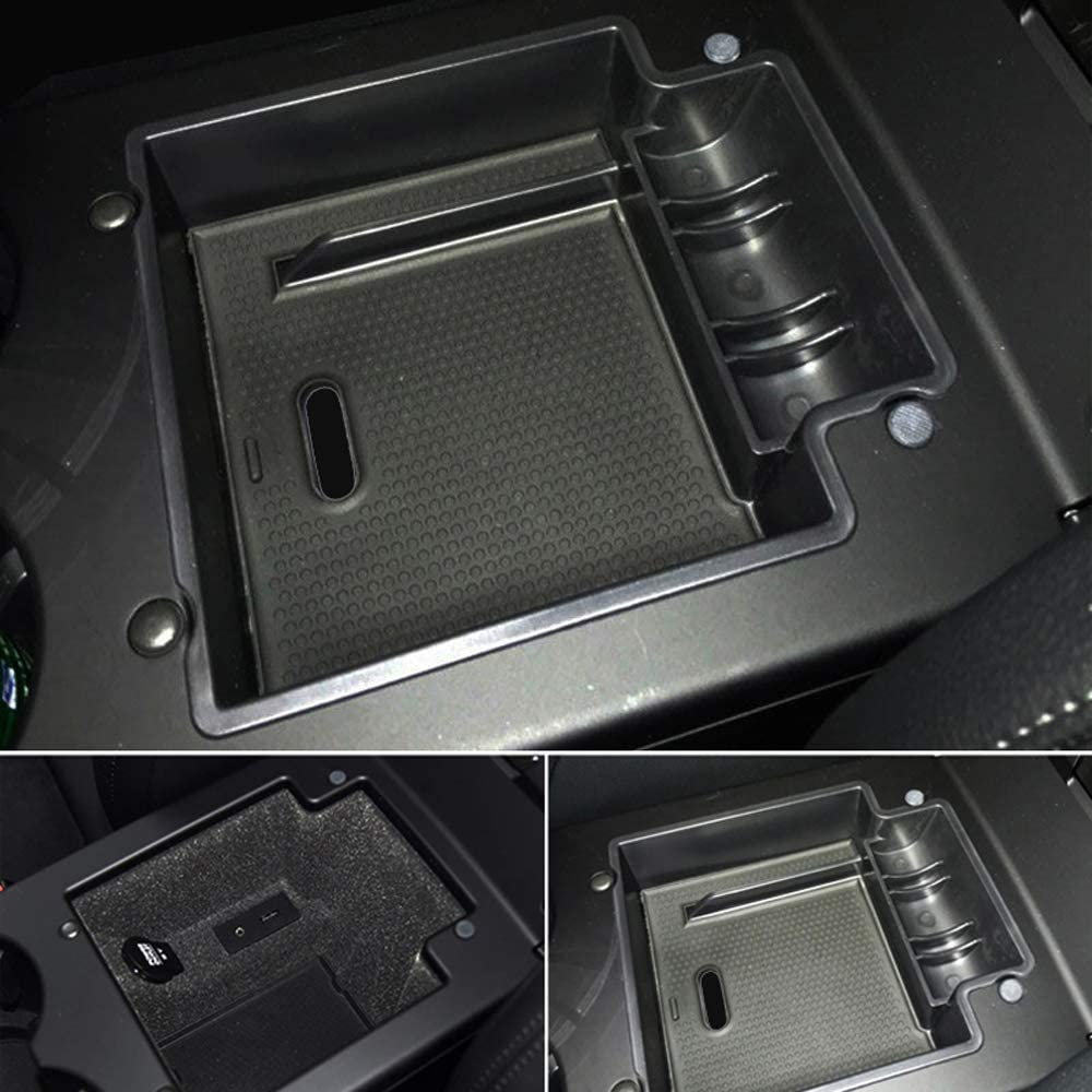 HIGH FLYING 2PCS Rear Back Door Inner Storage Box Glove Box Container Holder For Porsche Macan 2014 2015 2016 2017