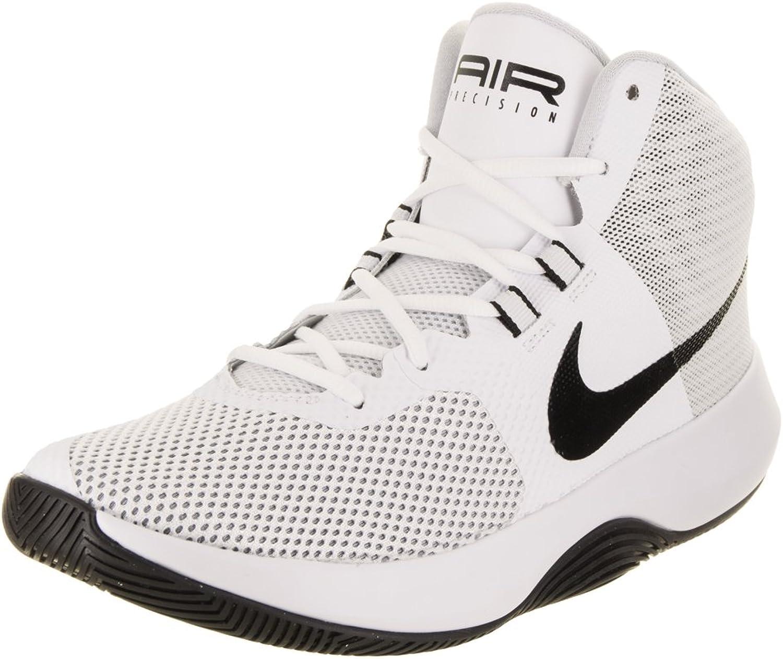 NIKE Män Air Precision vit    svart  Cool  grå Basketball skor 8 Män USA  incitament främjande