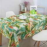 BPDD  El Mantel Que se Limpia con un paño Tiene Buena Textura y múltiples Acabados.Fácil de cuidar.  Impermeable y Resistente a Las Arrugas, Incluso Las Manchas Rebeldes como el café, el