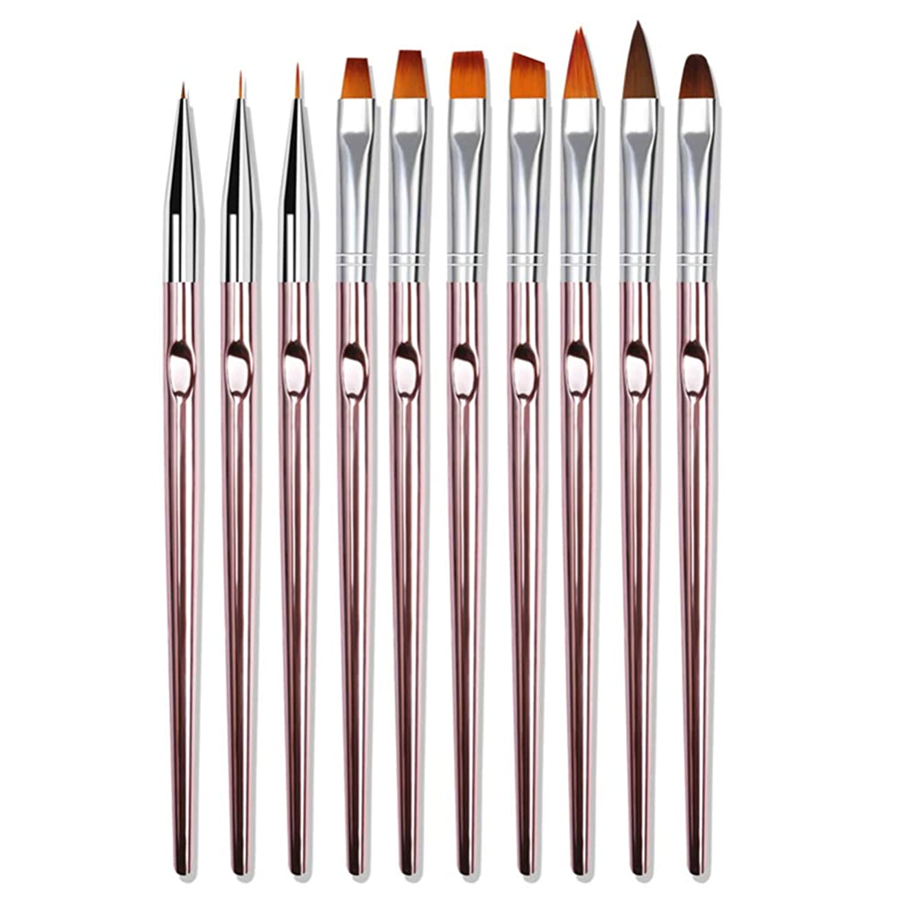 系統的値津波CHEZWU 10 PCS /セットペンピンクメタルバーUVジェルペンラインフラワーペンセット10セットのペン