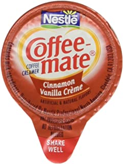 Liquid Coffee Creamer, Cinnamon Vanilla, 0.375 oz Mini Cups, 50/Box, Sold as 1 Box, 50 Each per Box