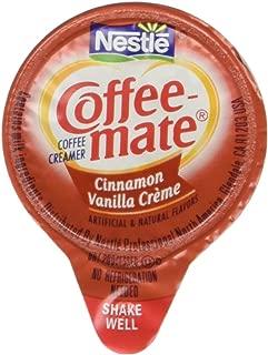 Liquid Coffee Creamer, Cinnamon Vanilla, 0.375 oz Mini Cups, 50/Box, Sold as 1 Box, 50 Each per Box