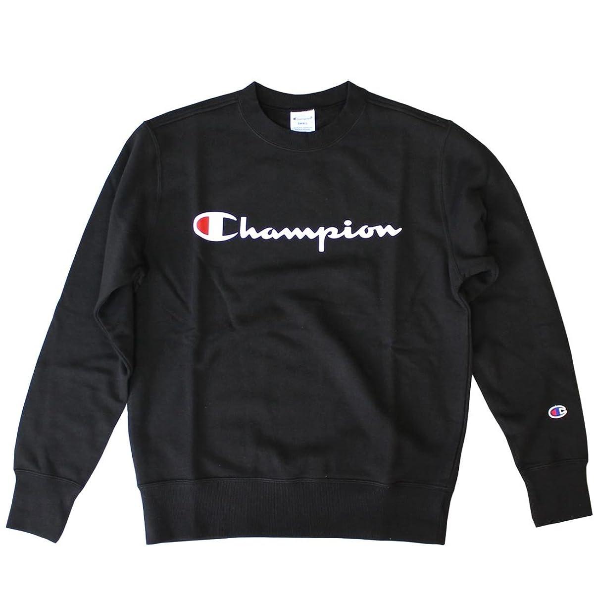 病弱ディスカウント一時的(チャンピオン) Champion クルーネックスウェットシャツ ベーシック チャンピオン C3-H004 ブラック