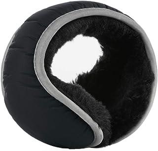 uxcell® Winter Outdoor Fleece Earmuff for Women Men Foldable with Reflective Stripe Plush Fuzzy Ear Warmer