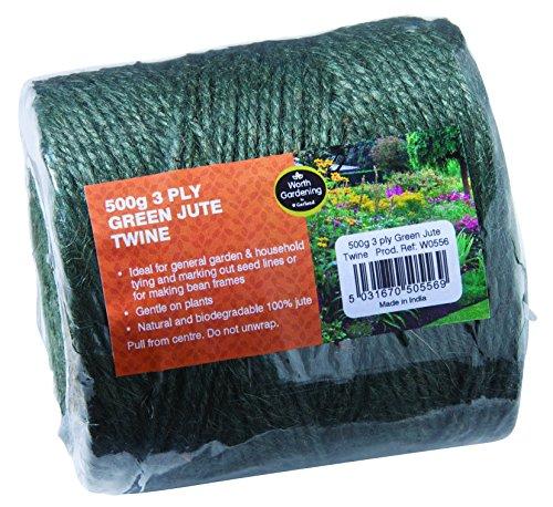 500g 3 Ply Green Jute Twine