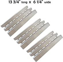 YIHAM KS749 Grill Heat Plate Replacement Parts for Broil King Signet and Sovereign Gas BBQ Models, 13 3/4 inch x 6 1/4 inch, Stainless Steel, Set of 3