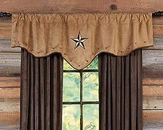 BLACK FOREST DECOR Southwestern Farmhouse Valance for Kitchen, Living Room, Bedroom, or Bathroom (Starlight)