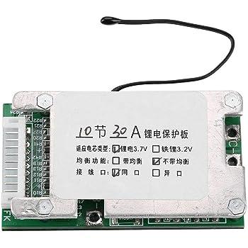 Protection de batterie Module de batterie PCB de carte de protection de batterie BMS PCB Board Board-10S 36V 30A Li-ion 1868 avec protection de batterie
