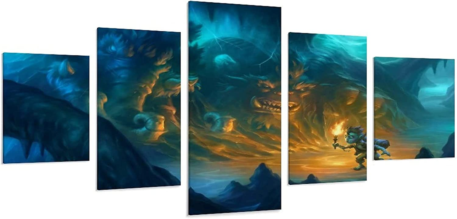 Anime Poster Hearthstone The Caverns Livin Wall OFFer Decoration store Below