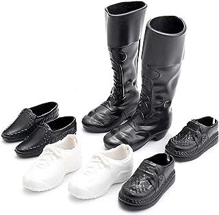 Mishiner 4 Pares de Zapatos para Barbie, Barbie Ken Zapatos Simulación Mini Zapatillas Zapatos Botas Accesorios para Barbie Novio Ken Juguetes Niños Regalo de cumpleaños para niñas