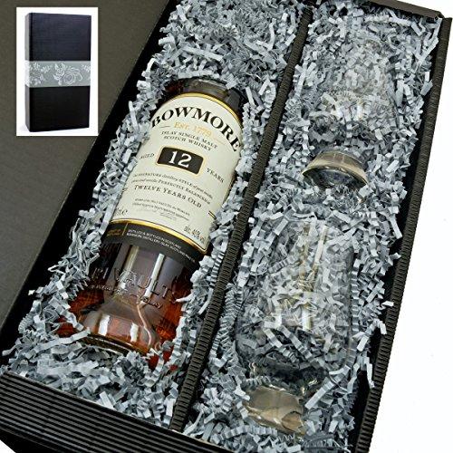 Bowmore Singe Malt Scotch Whisky 12y 40{443f305210a5b1544f39ecef71dda30e3bd70b9cec99762658a61117b522b8b4} 0,7l mit 2 Glencairn Gläser in Geschenkkarton