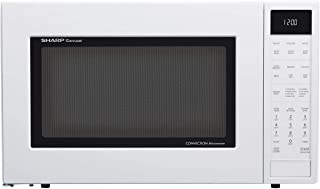 Sharp SMC1585BW Carousel 1.5 Cubic Foot 900W Kitchen Countertop Convection Microwave Oven, White (Certified Refurbished)