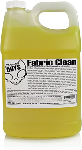 Chemical Guys CWS 103 Fabric Clean Carpet And Upholstery Shampoo And Odor Eliminator 1 Gal