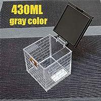 1PCSスパイスジャー調味料ボックス6PCS /セットキッチンスパイスストレージボトルジャー透明PP塩コショウクミンパウダーボックスツール (Color : 430ML gray, Size : A)