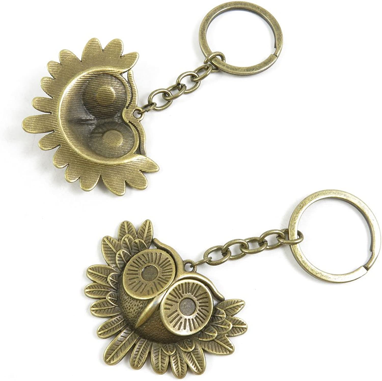 60 Pieces Fashion Jewelry Keyring Keychain Door Car Key Tag Ring Chain Supplier Supply Wholesale Bulk Lots W4EB5 Owl