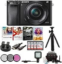 Sony Alpha a6000 Mirrorless Camera w/ 16-50mm Lens & Four 32GB SD Card Bundle