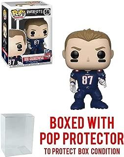 Pop! NFL: New England Patriots Rob Gronkowski (Color Rush) #56 Vinyl Figure (Bundled with Pop Protector)