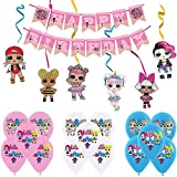 LOL Surprise Party Supplies Decoraciones,Lol Cumpleaños Decoracion Globos Pancarta de Feliz Cumpleañ...
