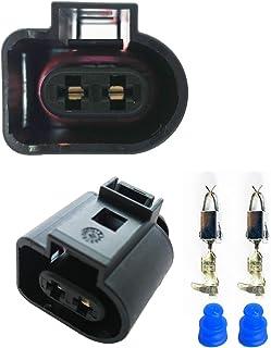 KFZ Ersatz Stecker – 1J0973722 (FEMALE) 2 pin 1J0 973 722 Sonnenblende Positionsleuchten Kompressor Klimaanlage Scheinwerferreinigung Scheibenwaschanlage Druckregler Magnetventil Turbolader Pumpe Auto
