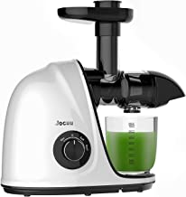 Jocuu Slow Masticating Juicer Extractor, Cold Press Juicer Machine with Two Speed Modes, Easy to clean, Reverse Function, Quiet Motor, with Brush and Recipes, for Fruits and Vegetables