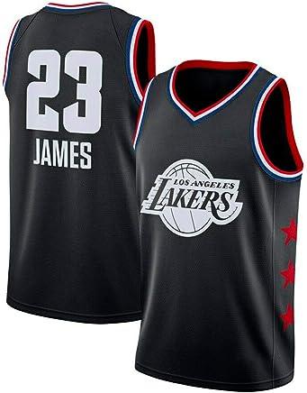 Gilet Respirant /à s/échage Rapide Maillot de Basket-Ball SansFin Lebron James /édition A B Maillot de Supporters Homme Maillots de Cavaliers et de Lakers Enfant