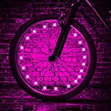 TINANA LED Bike Wheel Lights Ultra Bright Waterproof Bicycle Spoke Lights Cycling Decoration Safety Warning Tire Strip Light for Kids Adults Night Riding 1Pack (Pink)
