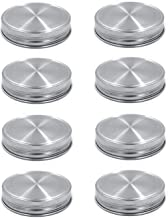 8pcs Pack Regular Mouth Mason Jar Lids for Ball Kerr and More, Made of 304 Stainless Steel, 100% Rust-proof and Leak-proof Storage Caps for Mason Jars