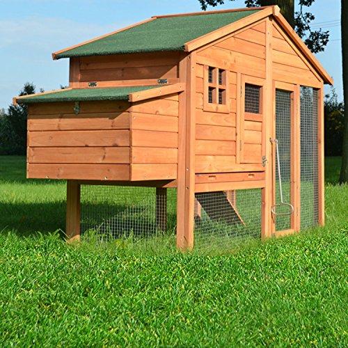 """ZooPrimus Hühner-Stall Nr 14 Geflügel-Voliere """"LUXUS-HÜHNERHAUS"""" Enten-Haus für Außenbereich (Geeignet für Kleintiere: Hühner, Geflügel, Vögel, Enten usw.) - 5"""