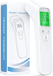 【2020 New Product Discount】Infrared Thermometer for Adults,Forehead and Ear Thermometer for Fever, Babies, Children, Adults, Indoor and Outdoor Use