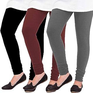 Pixie Woolen Leggings for Women, Winter Bottom Wear Combo Pack of 3 - Free Size