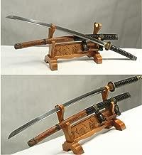 Damascus Folded Steel Clay Tempered Handmade Japanese Samurai Katana Sword