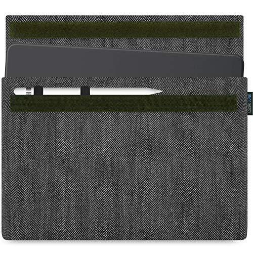 Adore June 10,5/11 Zoll Business Tasche für Apple iPad Air 10.5 2019, Apple iPad Pro 11 & Apple iPad Pro 10 5 mit Apple Pencil Halterung, Grau/Schwarz