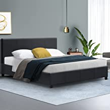Artiss Queen Bed Frame Fabric Upholstered Platform Bed Frame, Charcoal