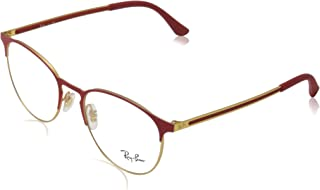 Metal RX6375 Prescription Eyeglass Round Frames On Lens