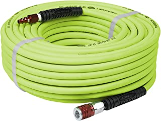 Flexzilla Air Hose with ColorConnex Industrial Type D Coupler and Plug, 1/4 in. x 100 ft,..