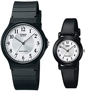 Casio for His and Her Analog Resin Watch Set, MQ-24-7B3/LQ-139AMV-7B3