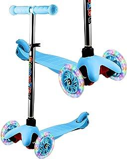 comprar comparacion WeSkate - Patinete Infantil de 3 Ruedas para Principiantes, niños de 2 a 8 años, Mini Patinete con Ruedas Luminosas y Mani...