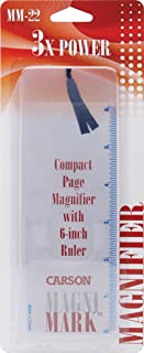 Carson MagniMark Fresnel 3x Power Page Magnifiers with 6-Inch Ruler (MM-22, MM-22MU)