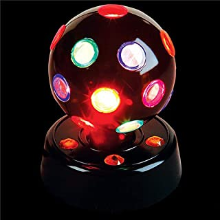 Kicko 7 Inch Disco Light - LED Multi-colored Revolving Lighting Ball - Perfect for Home and Party Decorations, Stage Lights, Rave, School Festivals, Stress Reliever