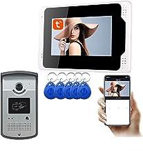 WiFi Video Deurbel, 7 Inch Tuya APP Ontgrendel 1080P Nachtzicht Video Deurtelefoon, Intercom,1 camera + 1 display