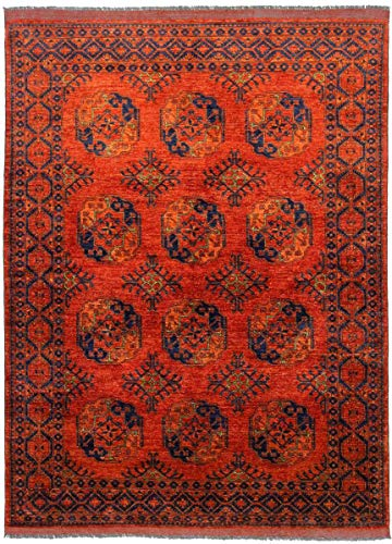 Nain Trading Afghan Ersari 233x176 Orientteppich Teppich Rot Handgeknüpft Afghanistan