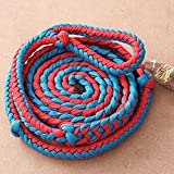 HILASON Braided Poly Barrel Racing Contest REINS Flat 1' X 8FT RED Blue