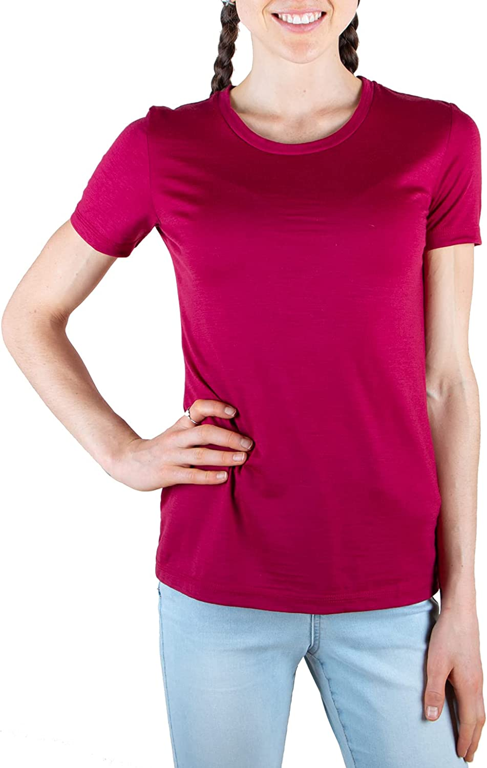 Merino 365 Women's Crew T-Shirt Sleeve Short 70% OFF Max 59% OFF Outlet
